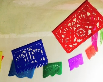 Medium Papel Picado. Mexican Folk Art. Paper Banners