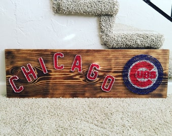 Custom Chicago Cubs String Art Sign
