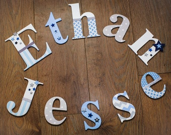 Boys Personalised 15cm Wooden Nursery Wall Toy Box Letters Christening Xmas Gift