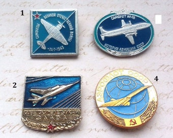 Pins Soviet Aviation badge airplanes of the USSR Aircraft Collection Plane   Russian Vintage