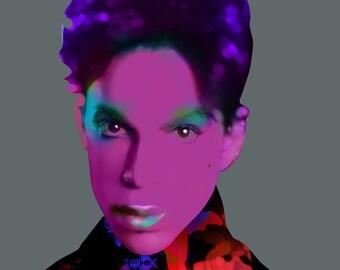 Prince - 80's music, Soul Singer,  Celebrity Portrait Prints, Pop/Rock Artists