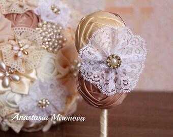 Wedding set 5 boutonnieres. Fabric boutonniere, boutonnieres, boutonniere for the groom. Wedding accesories, wedding set