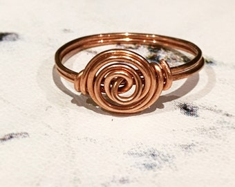 Copper Spiral Ring - Spiral Ring - Copper Ring - Boho Ring - Swirl Ring