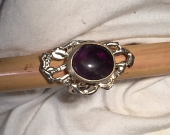 Amethyst Deco Ring