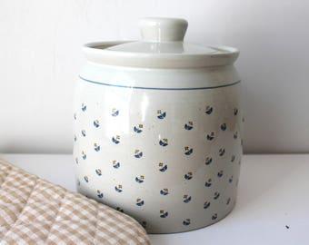 Vintage Stoneware Jar | Cookie Jar | Kitchen Canister | Stoneware Crock| Otagiri Japan