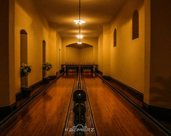 Biltmore Estate Bowling Alley during Candle light tour!