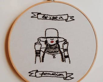 Beyonce Formation Embroidery Hoop