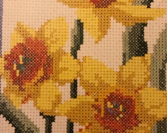 Vintage Flower of the Month Sampler counted cross stitch booklet by Current