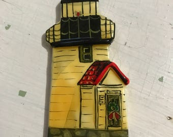 Vintage 1982 Mary McCormack Brant Point Nantucket Lighthouse Ornament