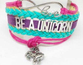 Be a Unicorn, Unicorn Bracelet, Unicorn Lover, Unicorn Party, Unicorn Birthday, Unicorn Charm,Unicorn Birthday, Unicorn Gift,  Jewelry