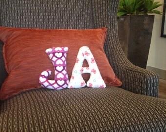 Decorative letter pillow - nursery decor - kids room decor - kids bedroom - kids decor - kids room - baby name - baby nursery