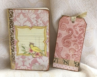 Yellow Bird Vintage Style Pocket Journal