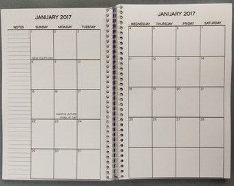 Monthly-View Planner | 2017-2018 | 14-Month