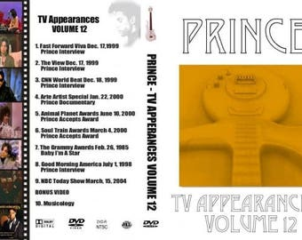 PRINCE TV Appearances vol 0- 19 20 dvd set of every TV performance from around the world!!!