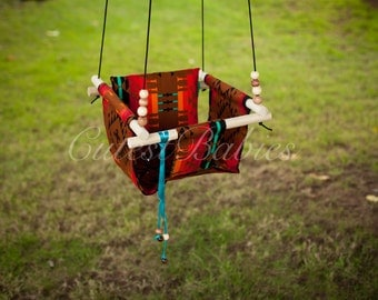 Baby  Fabric Swing with a Pillow. Indoor/Outdoor Baby/Todler Swing.