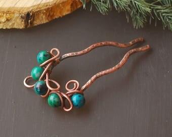 Bun holder Hair ComHair Pins Wire wrapped pin Hair stick Hair jewelry Hair pin Accessories Women Gift wire wrap hair accessories Hair holder