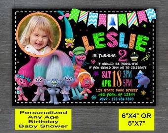 Trolls Invitation, Trolls Birthday Invite,Trolls Birthday Invitation,Trolls Birthday Party Invite, Trolls Party Printable
