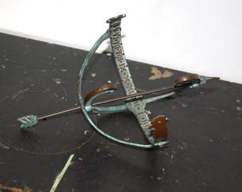 Vintage English Brass & Metal Armillary with Roman Numerals/ Decorative Green Oxidised Copper Sphere Sundial/ Equatorial Sundial