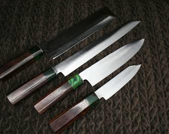 Custom Handmade Japanese Chef knife set - 1095 Stainless steel