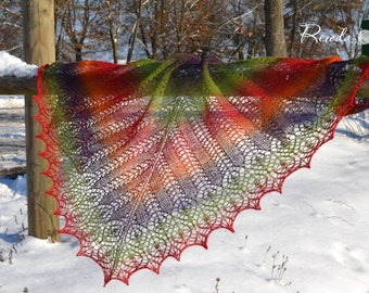 Summerly, scarf, shawl knitted, gift ideas