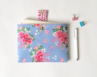 iPad Mini Cover, Padded Book Protector, Journal Pouch, Floral iPad Mini Case, LoadedBobbins