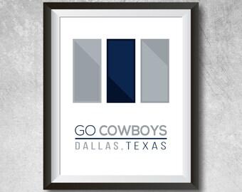 Dallas Cowboys Wall Art dallas cowboys art dallas cowboys print dallas cowboys