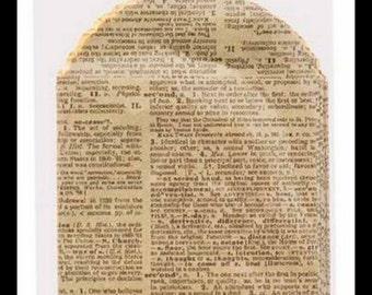 Small Dictionary Print Kraft Paper Bag