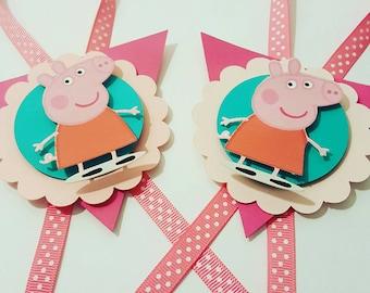Peppa Pig Candy Jar Tags