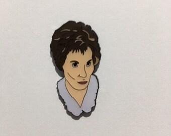 Judge Judy Enamel Pin