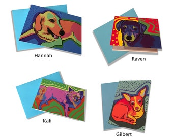 Doggie cards - four pack - note cards