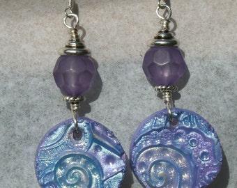 Handmade Polymer clay charm earrings