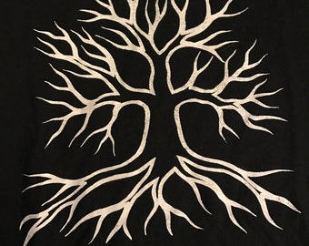 Tee- Shirts Unique Silk screen printed Tree of Life