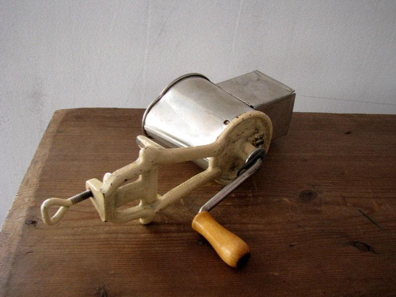 Antique Nut Grinder Swedish Kitchen Hand Crank Mincer Metal