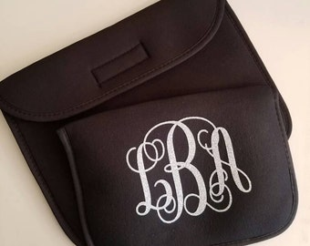 Monogrammed tablet sleeve/ tablet cover/ 8in or 10in monogrammed tablet sleeve/ tablet case/ personalized cover