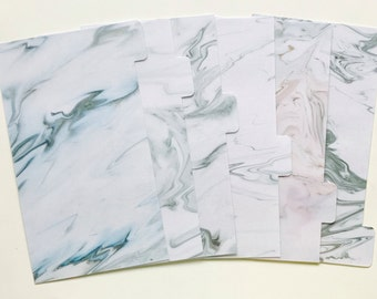 White Marble - Planner Dividers/Planner accessories
