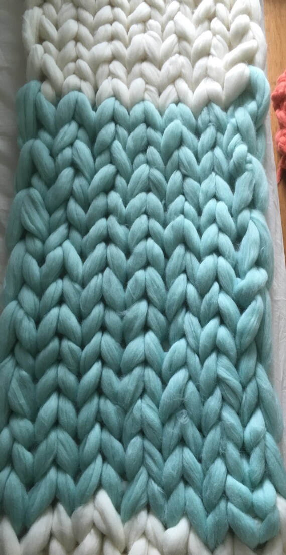 Arm Knitting Yarn Australia : Giant chunky yarn extreme knitting arm blanket