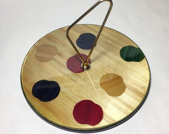 """French vintage cheese tray """"Painter's palette"""""""