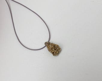 Vintage unusual Lumpy textured gold nugget charm