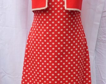 1950's - 60's Vintage Polka Dot Dress with Jacket