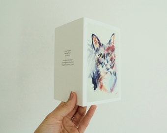 Colourful Cat Greeting Card