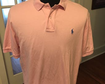 Vintage 90's Polo by Ralph Lauren Pink Polo Shirt