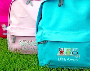 Personalised school rucksack