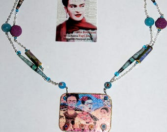 "Capsule collection ""Frida""-mosaic necklace, profumabile"