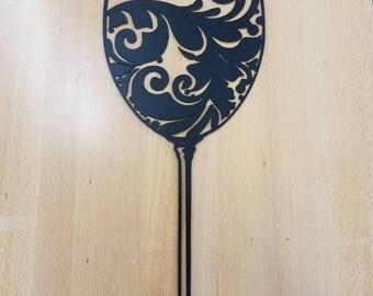 Wine Glass metal wall art plasma cut decor