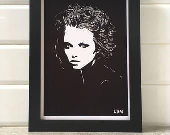 Woman In Shadow (Delilah) - Black & White Print