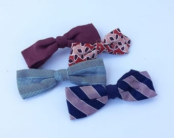 Vintage Clip-On Bow Ties (set of 4)