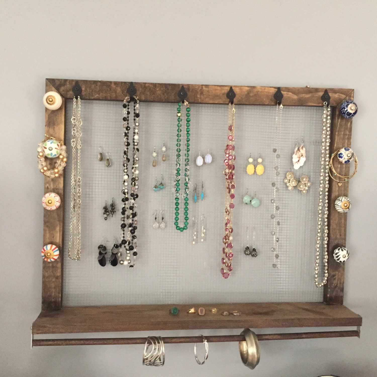 jewelry organizer wall mount