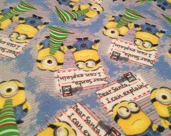 Minions Christmas Fleece Blanket Fabric, 1.5 yards