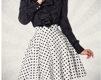 Polka Dot Skirt Vintage Wheel