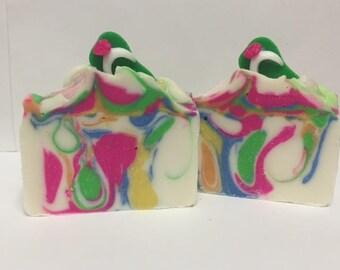 Flip Flops in Paradise Soap | Lime Margarita | Soap | Artisan Soap | Blue Violet Soaps
